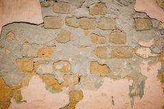 Fundo da textura da parede de tijolo da quebra imagem de stock