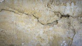 Fundo da textura da parede da quebra do cimento Parede rachada fotografia de stock