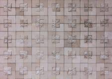 Fundo da textura da parede da rocha do bloco quadrado foto de stock