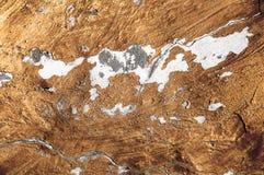 Fundo da textura da pintura pintada concreta danificada do ouro imagens de stock