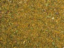 Fundo da textura Suneli verde do khmeli da mistura da especiaria foto de stock