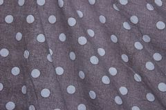 Fundo da textura da tela Polca Dot Textile Background imagem de stock royalty free