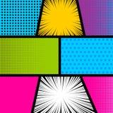 Fundo da tira da banda desenhada do pop art Imagens de Stock