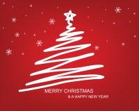 Fundo da tração da árvore de Natal Fotografia de Stock Royalty Free