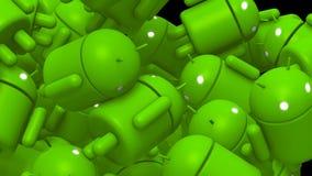 Fundo da transição de Android ilustração royalty free