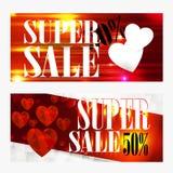 Fundo da venda com o coração dado forma Papel de parede, insetos, convite, cartazes, brochu Foto de Stock Royalty Free