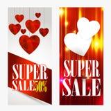 Fundo da venda com o coração dado forma Papel de parede, insetos, convite, cartazes, brochu Fotos de Stock Royalty Free