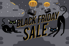 Fundo da venda de Black Friday Foto de Stock Royalty Free