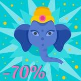 Fundo da venda de Ganesh Chaturthi, estilo liso ilustração do vetor