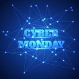 Fundo da venda de segunda-feira do Cyber ilustração royalty free
