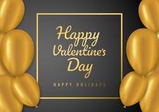 Fundo da venda do dia de Valentim com balões Ilustração do vetor Conceito para insetos, convite, cartazes, folheto, papel de pare ilustração royalty free