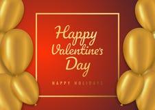 Fundo da venda do dia de Valentim com balões Ilustração do vetor Conceito para insetos, convite, cartazes, folheto, papel de pare ilustração do vetor