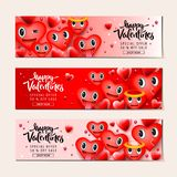 Fundo da venda do dia de Valentim com emoticons do coração, caras do smiley do emoji, ilustração do vetor Papel de parede, inseto ilustração do vetor