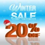 Fundo da venda do inverno Foto de Stock