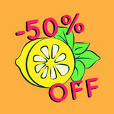 Fundo da venda do verão com limão Imagem de Stock