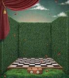 Fundo da xadrez ilustração royalty free
