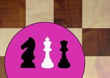 Fundo da xadrez Fotografia de Stock Royalty Free