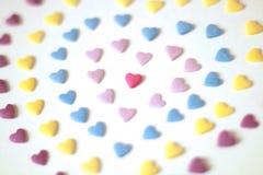 Fundo dado forma coração dos doces fotografia de stock