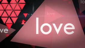 Fundo dando laços da animação do gráfico do movimento do amor video estoque
