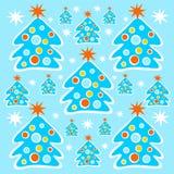 Fundo das árvores de Natal Fotos de Stock Royalty Free