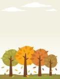 Fundo das árvores do outono Ilustração do Vetor