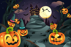 Fundo das abóboras de Halloween Foto de Stock