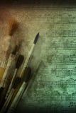Fundo das artes da pintura e da música fotos de stock royalty free