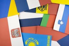 Fundo das bandeiras da bandeira de países diferente fotos de stock royalty free