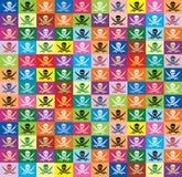 Fundo das bandeiras multicolor Roger alegre Imagens de Stock