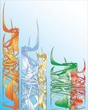 Fundo das barras coloridas. Imagens de Stock Royalty Free