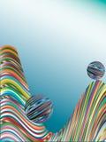Fundo das barras coloridas. Imagem de Stock
