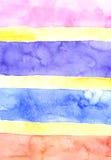 Fundo das barras de cor da aquarela Fotografia de Stock