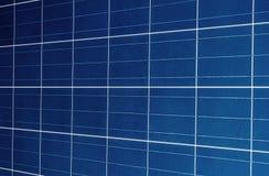 Fundo das baterias solares Fotografia de Stock