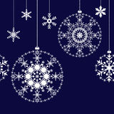 Fundo das bolas do Natal Imagem de Stock
