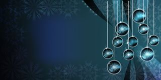 Fundo das bolas do Natal com efeitos brilhantes do inclinação e do borrão imagem de stock royalty free