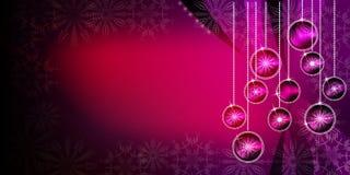 Fundo das bolas do Natal com efeitos brilhantes do inclinação e do borrão fotografia de stock