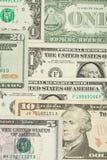 Fundo das cédulas do dinheiro do dólar dos EUA Foto de Stock
