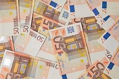 Fundo das cédulas do Euro Fotos de Stock Royalty Free