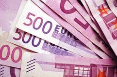 Fundo das cédulas do Euro Imagem de Stock Royalty Free