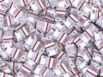 Fundo das cédulas do Euro Foto de Stock