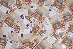 Fundo das cédulas do Euro Imagens de Stock