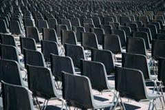 Fundo das cadeiras Fotografia de Stock Royalty Free