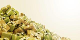 Fundo das caixas de presente Foto de Stock