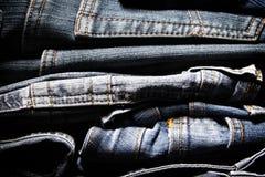 Fundo das calças de brim Fotografia de Stock