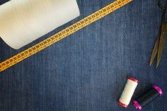 Fundo das calças de brim da sarja de Nimes Imagem de Stock