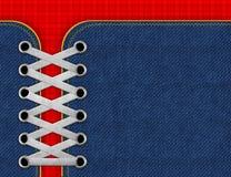 Fundo das calças de brim da sarja de Nimes com laços Fotos de Stock Royalty Free