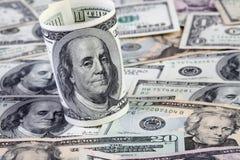Fundo das contas de dólar Fotos de Stock
