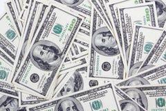 Fundo das contas de dólar Foto de Stock