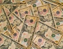 Fundo das contas dos E.U. $10 Fotografia de Stock