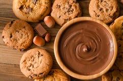 Fundo das cookies do chocolate Fotografia de Stock Royalty Free